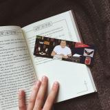 "A bookmark by Jessica featuring Molly aka ""The Thing of Evil"" (Kings dog)"