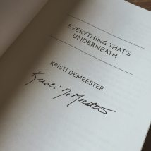 Kristi DeMeester's book was signed!