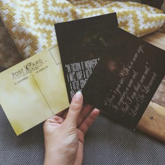 The art of the month: three post cards with sayings by Lestat De Lioncourt