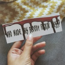 A bookmark with the month's theme